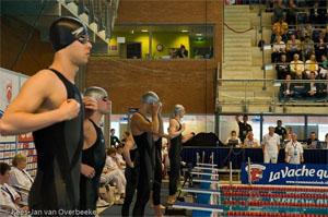 De finale van de 200vrij heren (Foto: Kees-Jan van Overbeeke)
