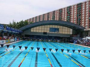 Het zwembad in Barcelona