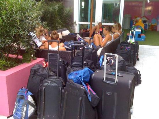 Amerikaanse zwemploeg wacht op vertrek richting Rome
