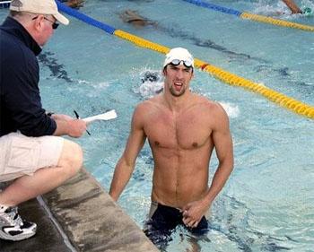 Bob Bowman en Michael Phelps