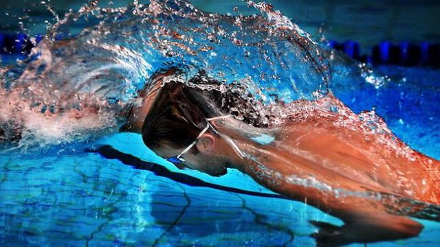Ian Thorpe tijdens een training in het Ian Thorpe Aquatic centre in Sydney (Foto: Gregg Porteous)