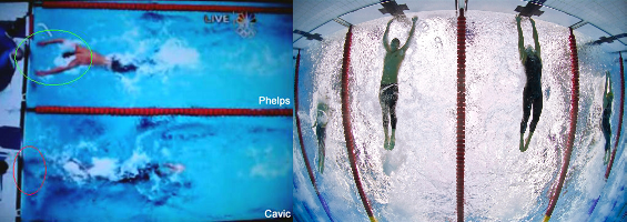 Cavic vs Phelps